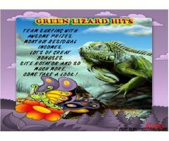 Green Lizard Hits Traffic Exchanges
