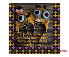 Crochet Treasures custom made character hats & more