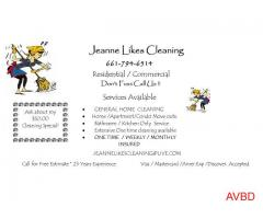 JEANNE LIKES CLEANING