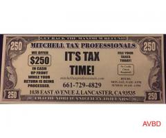 Get 250 Cash At Mitchell Tax Professionals